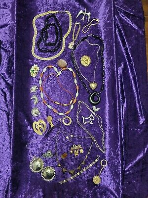 $ CDN7.59 • Buy Vintage Mixed Some Signed Jewelry Lot - Danecraft, Jeri-Lou, Pewter, M. Jent