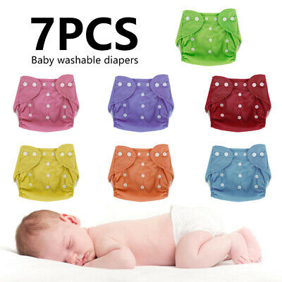 AU22.46 • Buy 7X  Baby Cloth Nappies Reusable Modern Diapers Adjustable Inserts Bulk Nappy