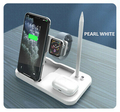 AU39.78 • Buy 15W Fast Wireless Charging 4in1 Dock/Stand/Station IPhones Apple Watch Apple Pen
