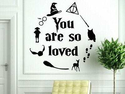 £3.99 • Buy Harry Potter You Are So Loved Montage Wall Vinyl Art Sticker