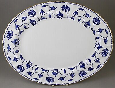 "Spode China England Blue Colonel Y6235 41cm 16"" Large Oval Serving Platter • 75£"