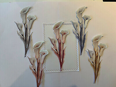 Tattered Lace X2  3d Calla Lily Die Cuts Assorted Colours • 2.90£
