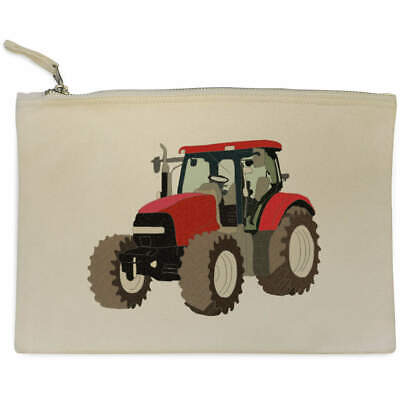 AU17.98 • Buy 'Red Tractor' Canvas Clutch Bag / Accessory Case (CL00021014)