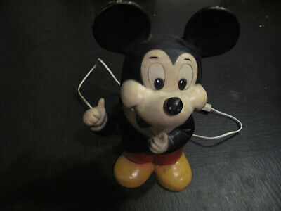 Vintage Heico Mickey Mouse Lamp 1984:  New: Plug, Switch, Cord + Low Energy Bulb • 45.99£