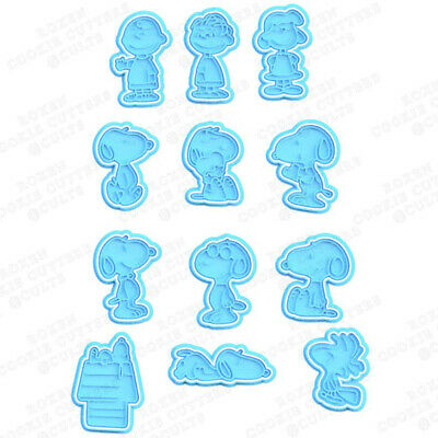 AU8.95 • Buy Snoopy Cutter Characters Biscuit Fondant Baking Cake Embosser Set