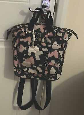 Radley 'columbia Road' Hearts Medium Oilcloth Rucksack/  Backpack / Grab Bag • 12.31£