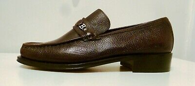 Mens Bally Shoes Moccasin 'Amatino' Chocolate Brown  UK 6.5 E   Italian Made • 44£