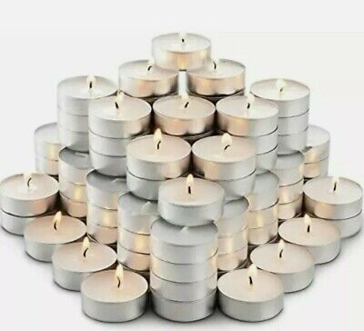 IKEA GLIMMA 4Hrs LONG BURN Night Light Candles Unscented Tealights  • 8.99£