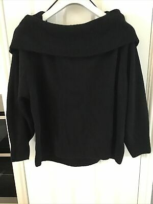 H&M Off The Shoulder Black Soft Touch Jumper Size Large New With Tag Long Sleeve • 16.99£