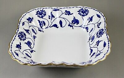 Spode China Blue Colonel R6235 Square Deep Vegetable Dish Salad Bowl Excellent • 50£