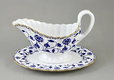 Spode China Blue Colonel R6235 Gravy Or Sauce Boat And Stand Excellent • 45£