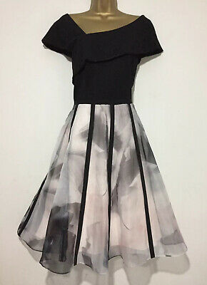 Gorgeous COAST Fit Flare Organza Skirt Occasion Dress  SIZE 20 • 59.95£