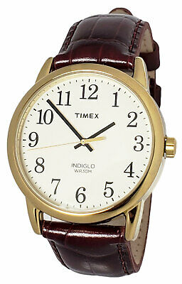 $ CDN44.34 • Buy Timex TW2R29500 Easy Reader Men's Gold-Tone Watch Brown Leather Mens