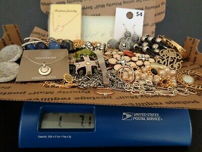 $ CDN7.58 • Buy Vintage To Modern, Lot Of + 1.5 Pounds, Sterling And More, Wearable Jewelry, Or