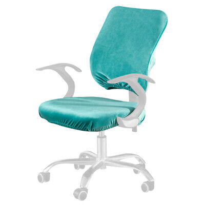 AU16.67 • Buy Elastic Office Chair Cover Split Computer Seat Dustproof Solid Stretch Universal