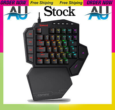 AU99.99 • Buy Redragon K585 Diti One-handed Rgb Mechanical Gaming Keyboard, Blue Switches, Pro