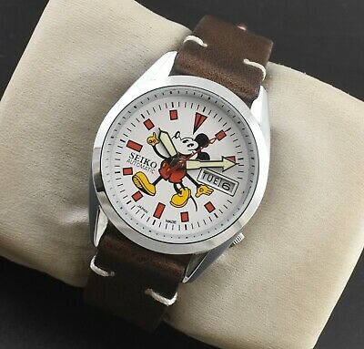$ CDN35.30 • Buy Vintage Seiko Mickey Mouse Automatic 17 Jewels Cal.6309 Day Date Men's Wrist