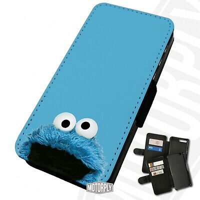 Printed Faux Leather Flip Phone Case For IPhone - Cookie-Monster • 9.75£