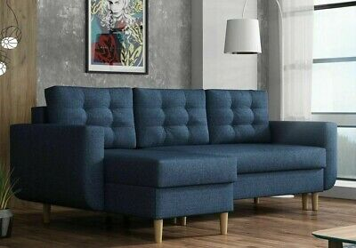 £419 • Buy Corner Sofa Bed ESTER With 2 Storage Containers Universal Corner Side New