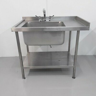 Commercial Sink Single Stainless Large Shelf Pot Wash • 354£