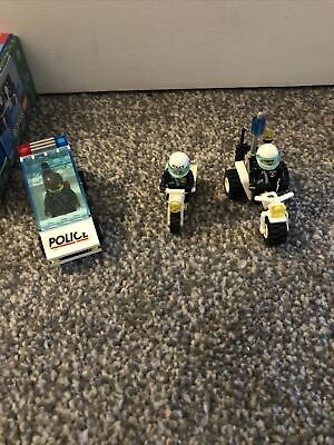 Lego System 6625 & 6325 Police Car & Bike Complete Original Figures • 5.80£