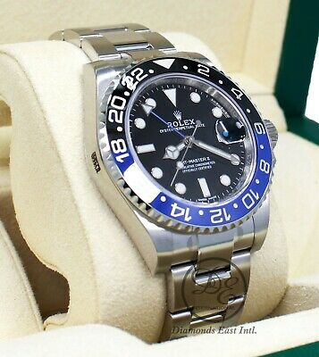 $ CDN23504.82 • Buy Rolex GMT-MASTER II 116710 BLNR Batman Black Blue Ceramic Bezel NEW STICKRED