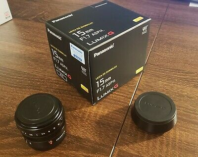 Panasonic Leica 15mm F1.7 DG Summilux Aspherical Lens - Micro Four Thirds • 245£