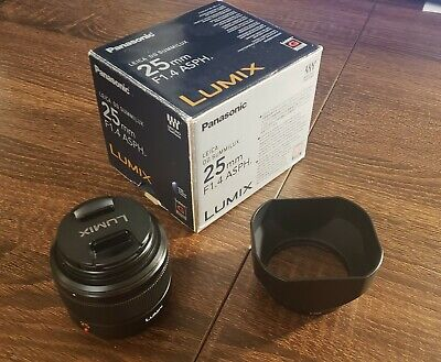 PANASONIC Leica DG Summilux 25mm F1.4 ASPH Lens M/43 Micro Four Thirds • 165£