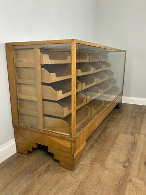 Vintage Shop Counter , Haberdashery Drawer Counter , Glass 1930s Dudley & Co • 1,295£