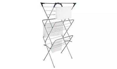 Minky Plus 21m 3 Tier Indoor Clothes Airer - Silver • 55£