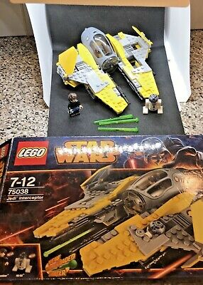 LEGO Star Wars Jedi Interceptor (75038) -Used, Complete,Inc Figs,No Stickers • 19.99£