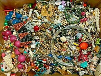 $ CDN85.19 • Buy 7 Lb Pounds Unsearched Huge Lot Jewelry Vintage Now Junk Art Craft Treasure Box