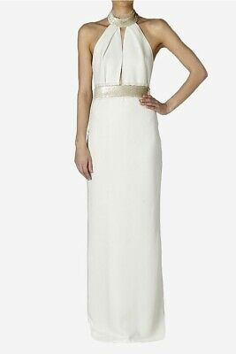 AU500 • Buy Carla Zampatti Cream Crepe Studio 54 Jumpsuit, Size 6, Condition Is New