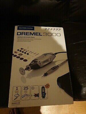 Dremel 3000125EZ 3000 Series Rotary Multi Tool With 25 Accessories • 51£