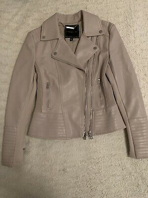 AU40 • Buy Forever New Pink Blush Leather Jacket 8 S XS