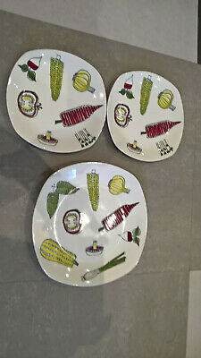 £100 • Buy Vintage Mid Century Midwinter Dinner Plate SALADWARE By Terence Conran 1950s X 3