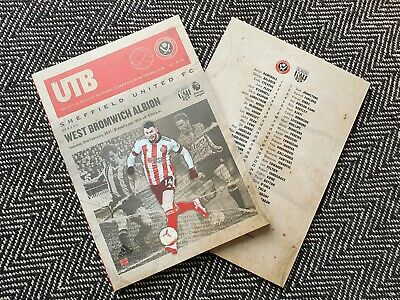 £7.29 • Buy Sheffield United V West Brom Bromwich Albion Programme 2/1/21 IMMEDIATE POST!!!