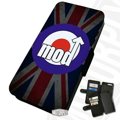 Printed Faux Leather Flip Phone Case For IPhone - Mod-Faded-Union-Jack • 9.75£