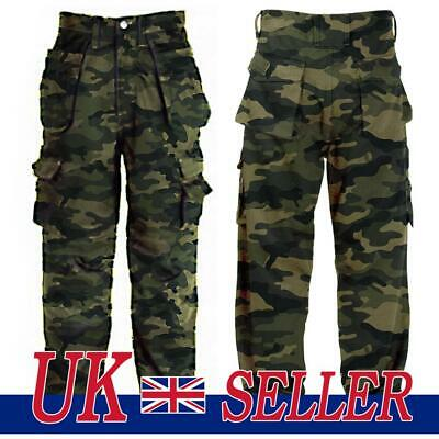 £16.29 • Buy Men's Army Military Cargo Combat Trousers Camo Camouflage Pants Work Bottom