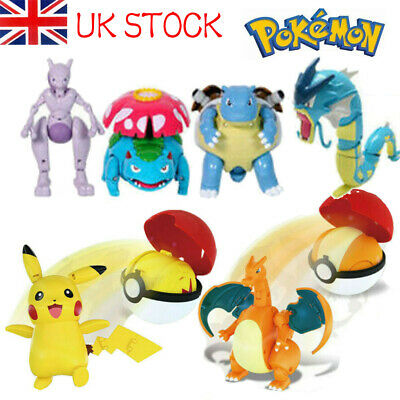 For Pokemon Deformation Ball Transformation Action Figure Pikachu Kids Toy Gifts • 4.29£