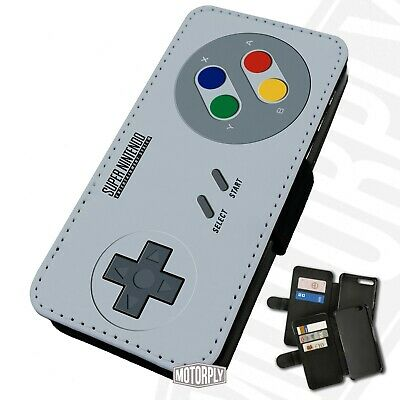 Printed Faux Leather Flip Phone Case For IPhone - Retro-Controller • 9.75£