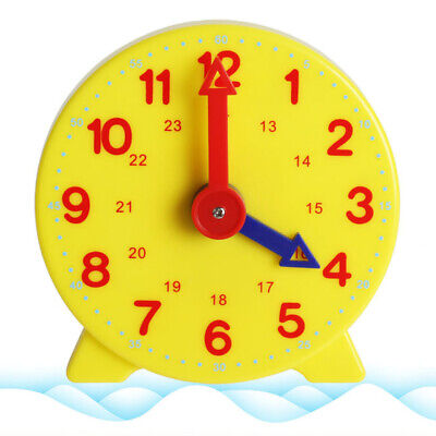 £2.88 • Buy Teaching Clock Children's Learn To Tell The Time Unisex Kids Educational Toy UK