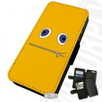 Printed Faux Leather Flip Phone Case For IPhone - Zippy-Face-Rainbow • 9.75£