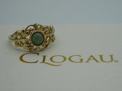 Clogau 9ct Gold Enchanted Forest Aventurine Ring RRP £460.00 Size P • 299.95£