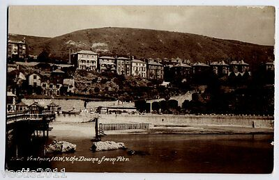 Ventnor, Isle Of Wight, England Real Photo Postcard - View From The Pier - 1927 • 1.95£
