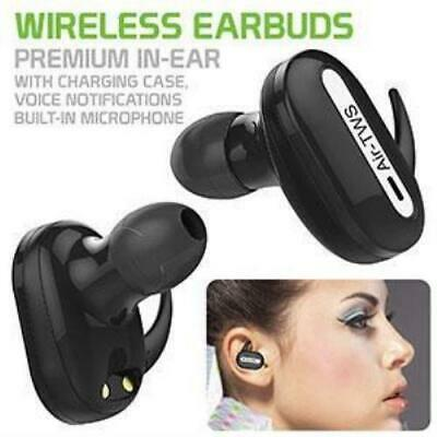$ CDN31.70 • Buy True Wireless Stereo Earbuds, Headset, With Charging Case For Apple Samsung