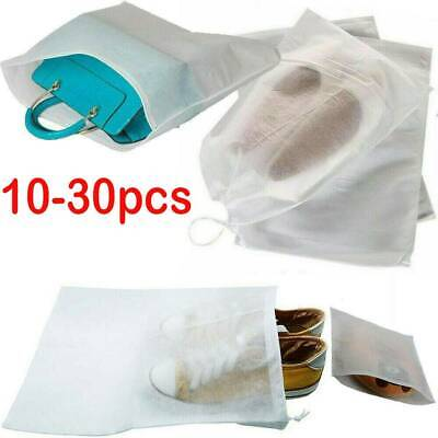 30x Portable Shoes Bag Travel Storage Pouch Drawstring Dust Bags Non-woven Gift • 3.68£