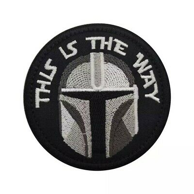 STAR WARS BOUNTY THE MANDALORIAN THIS IS THE WAY EMBROIDERED PATCH - Iron On • 4.40£