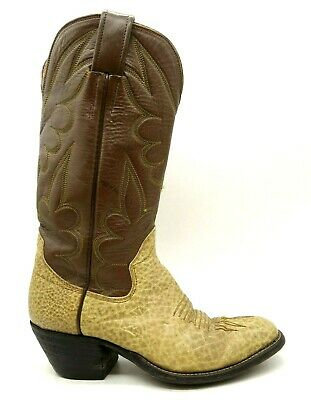 £20.44 • Buy The Sanders Boot Makers Brown Bullhide Leather Cowboy Boots Shoes Women's 4 C