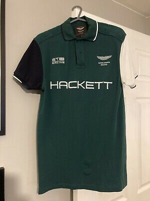 Hackett Aston Martin Polo Shirt Small • 10£